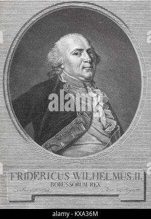 Portrait of Frederick William II, 25 September 1744 - 16 November 1797, was King of Prussia, from 1786 until his - Stock Photo