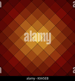 orange and yellow checkered cube background pattern - Stock Photo
