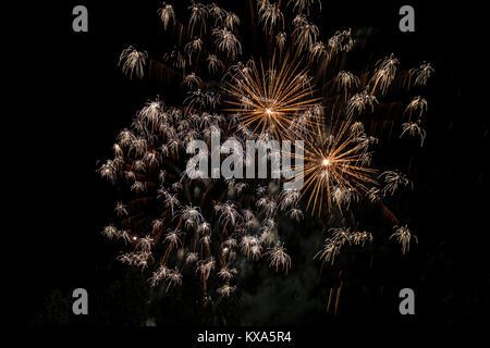 happy celebration Firework - Stock Photo