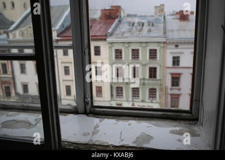 Lviv Ukraine old city - Stock Photo
