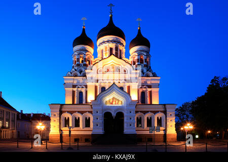 The Alexander Nevsky Cathedral in Toompea, Tallinn, Estonia - Stock Photo
