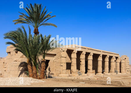 Mortuary temple of Seti I (19th dynasty) at the Theban Necropolis near Luxor, Egypt - Stock Photo