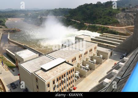 Sri Lanka. 08th Jan, 2018. Sri Lanka. 08th Jan, 2018. Top view of the Moragahakanda hydro-electricity and irrigation - Stock Photo