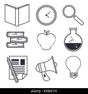 set of education online icons - Stock Photo
