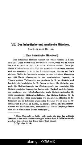 Grimms Märchen Anmerkungen (Bolte Polivka) IV 315 - Stock Photo