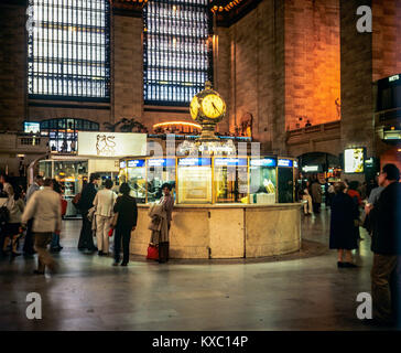 May 1982,New York,Grand Central train station,main concourse,subway and city bus information booth,Manhattan,New - Stock Photo