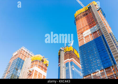 New York City, USA - October 27, 2017: Construction development at the Hudson Yards in Manhattan, NYC, on Chelsea - Stock Photo