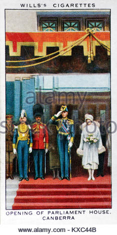 The Reign of King George V - Opening of Parliament House Canberra - Stock Photo