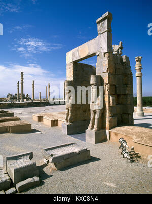 Gate of All Nations. Persepolis, Iran. Achaemenid Empire (ca. 550-330 BC). - Stock Photo