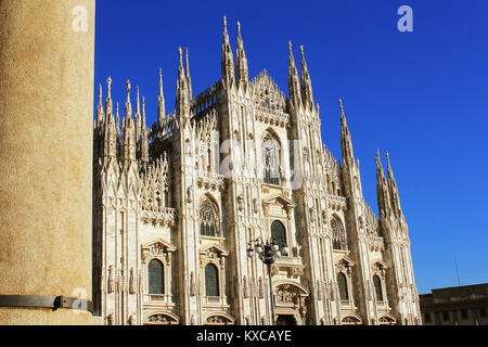 Milan Cathedral or Duomo di Milano is the gothic cathedral church of Milan, Italy - Stock Photo