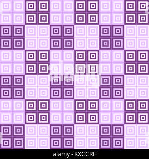 purple and pink squares inside squares cube pattern background wallpaper - Stock Photo