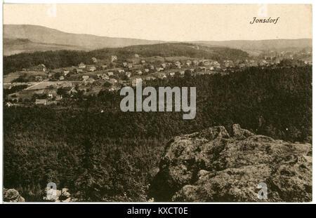 21318-Jonsdorf-1919-Blick auf Jonsdorf-Brück & Sohn Kunstverlag - Stock Photo