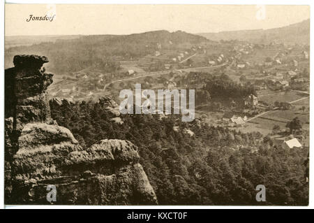 21319-Jonsdorf-1919-Blick auf Jonsdorf-Brück & Sohn Kunstverlag - Stock Photo