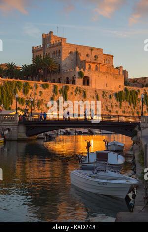 Historic old harbour, Ciutadella, Menorca, Balearic Islands, Spain, Europe, - Stock Photo
