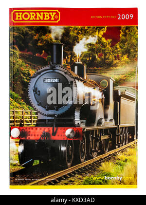 Hornby model railways catalogue from 2009 (edition 55) with London & South Western railway T9 4-4-0 locomotive from - Stock Photo