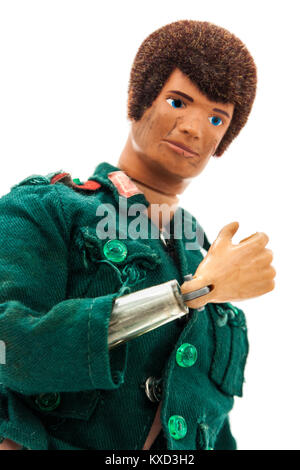 Rare original 1960s Action Man toy (based G.I. Joe), made by Palitoy in England under License from Hasbro. - Stock Photo