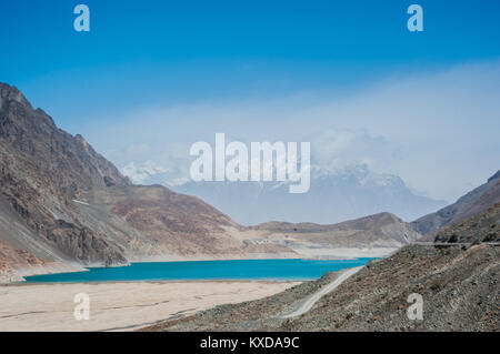 Satpara Lake,Skardu ,Gilgit and Baltistan, Pakistan - Stock Photo