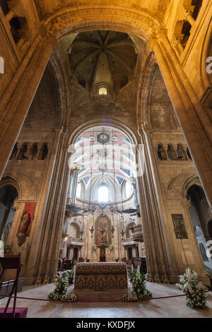 LISBON - JUNE 24: Se Cathedral (The Patriarchal Cathedral of St. Mary Major) on June, 24, 2014 in Lisbon, Portugal - Stock Photo