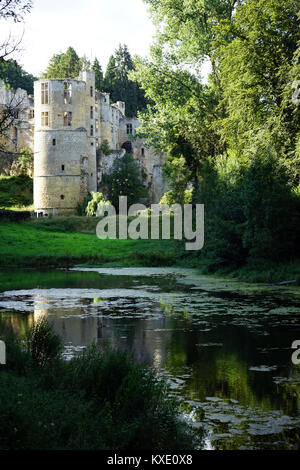 BEAUFORT, LUXEMBOURG - CIRCA AUGUST 2016 Ruins of castle - Stock Photo