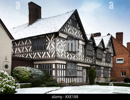 UK, England, Cheshire, Nantwich, London Road, 1577 Churches Mansion, one of the town's oldest buildings - Stock Photo