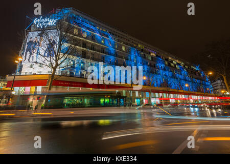 Flagship store of the Galeries Lafayette, an upmarket French department store chain on Boulevard Haussmann in the 9th arrondissement of Paris, France Stock Photo