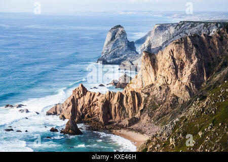 Beautiful photo depicting rocks, sea and vegetation - Stock Photo