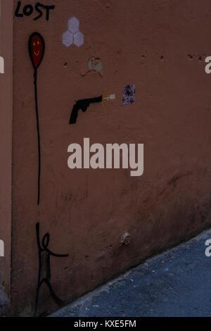 Graffiti on a wall - Stock Photo