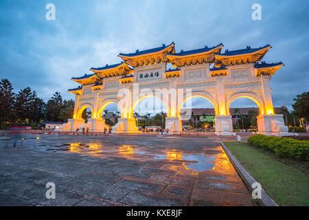 The Gate of Great Piety, Chiang Kai-shek Memorial Hall in Taipei city, Taiwan. - Stock Photo
