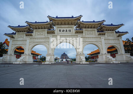 Chiang Kai-shek Memorial Hall in Taipei city, Taiwan. - Stock Photo