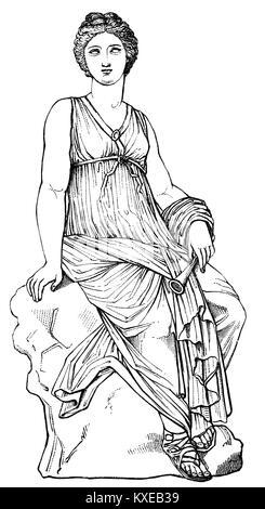 Euterpe, the muse of music in Greek mythology - Stock Photo