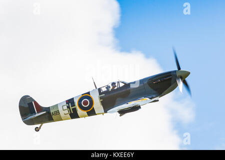 Spitfire LF Mk.Vb AB910. Operated by the RAF Battle of Britain Memorial Flight. Battle of Britain 75th anniversary - Stock Photo