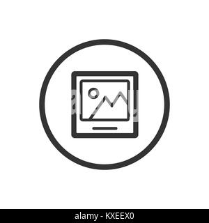 Line picture icon on a white background. Vector illustration - Stock Photo