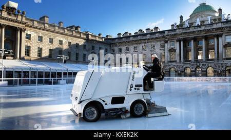 Somerset House Ice Rink - Stock Photo