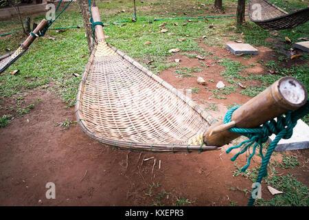 bamboo hammock weave   stock photo handmade bamboo hammock craft weave in the garden stock photo      rh   alamy