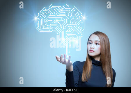 AI(Artificial Intelligence) concept, 3d rendering - Stock Photo