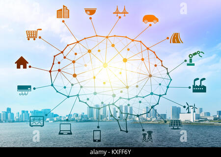 AI concept. Artificial Intelligence and various industries. - Stock Photo