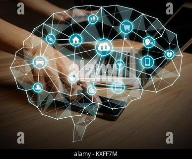 AI(Artificial intelligence) concept. - Stock Photo