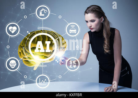 AI(Artificial Intelligence) concept. 3D rendering. - Stock Photo