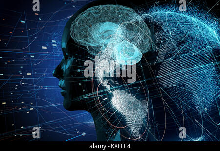 AI(Artificial Intelligence) concept. - Stock Photo