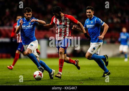 Diego Costa (Atletico de Madrid). in action during  Copa del Rey match between Atletico de Madrid vs Lleida at the - Stock Photo
