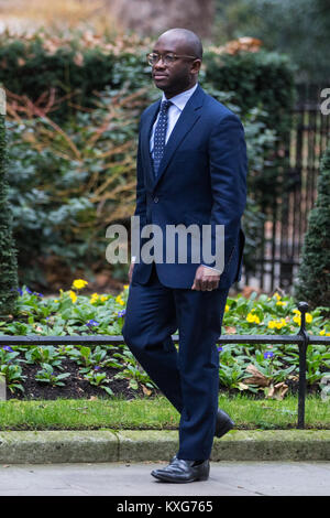 London, UK. 9th Jan, 2018. Sam Gyimah MP arrives at 10 Downing Street during the reshuffle of junior ministers by - Stock Photo
