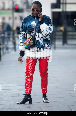 Street Style From Day Two Of London Fashion Week Spring Summer 2018 Stock Photo Royalty Free