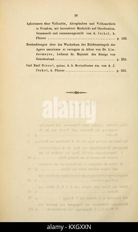 Abhandlungen der Naturhistorischen Gesellschaft zu Nürnberg BHL3366339 Stock Photo