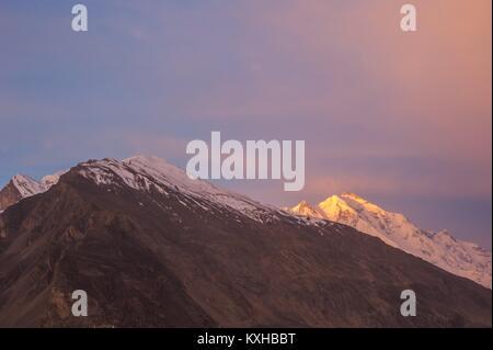 Beuatiful landscape of Northern Pakistan. Hunza Valley. Karakorum mountains in Pakistan - Stock Photo