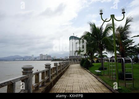 NHA TRANG, VIETNAM - CIRCA JANUARY 2017 Embankment on the coast - Stock Photo