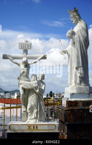 NHA TRANG, VIETNAM - CIRCA JANUARY 2017 Statues near cathedral - Stock Photo