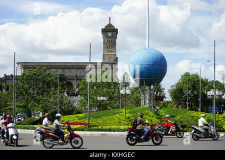 NHA TRANG, VIETNAM - CIRCA JANUARY 2017 Square near cathedral - Stock Photo