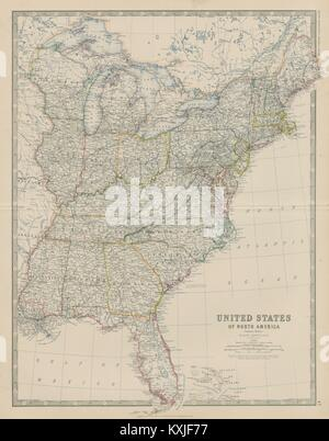 Map of North America, eastern states Date: 1827 Stock Photo ...