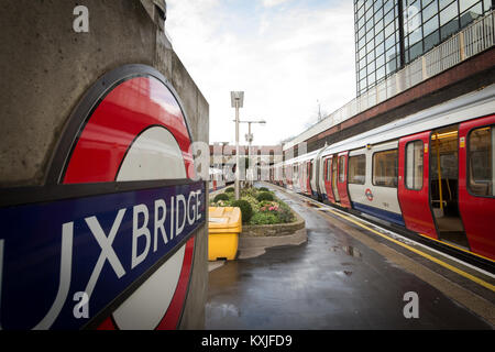 Uxbridge tube station, West London UK - Stock Photo