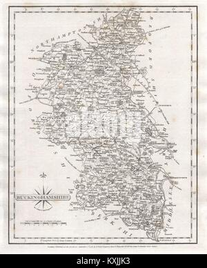 Antique County Map Of Buckinghamshire By John Cary 1787 Old Chart Reasonable Price Art Prints